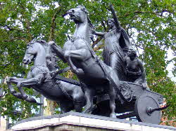 Statue of Boudicca on Westminster Bridge, London (courtesy of Joanna Richards)