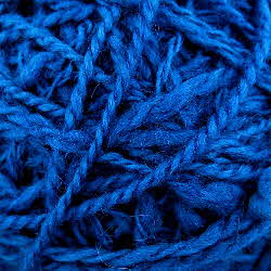 Handspun wool dyed with woad