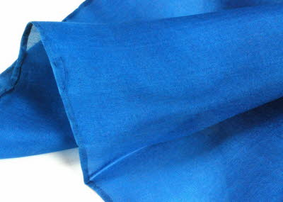 Woad-dyed silk scarf detail