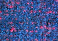 felted woad/cochineal weave
