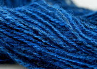 Lincoln wool dyed with woad